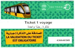1 Ticket Transport 2018 Algeria Tram Tramway Alger Algiers Argel Billete De Transporte Tranvía - Tickets - Tram