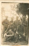 CARTE PHOTO MEKNES 1920  GROUPE DE SOLDATS - Meknès