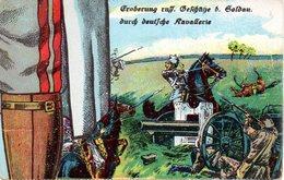 """Original Einzelne (Puzzle)-Feldpostkarte, Militär, 1.WK: """"Eroberung Russ.Geschütze B. Soldau Durch Deutsche Kavallerie"""""""" - Weltkrieg 1914-18"""
