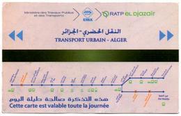 1 Ticket Transport 2018 Algeria Metro Subway Journée De La Femme International Women's Day Alger Algiers 2 Scans - Tram
