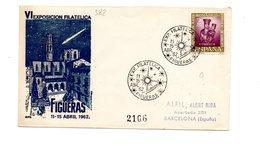 LAB382 - SPAGNA 1962  ,   Fdc Commemorativa. - FDC