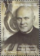 BHHB 2017-459 FRA BRANKO MARIĆ, BOSNA AND HERZEGOVINA HERCEGBOSNA(CROAT), 1 X 1v, MNH - Bosnie-Herzegovine