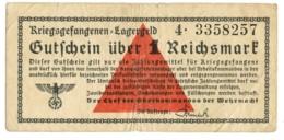 1 REICHSMARK PRIGIONIERI DI GUERRA LAGER WWII GERMANIA BB - [ 1] …-1946 : Regno