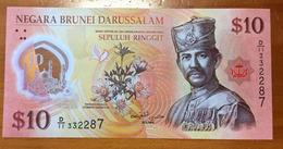 Brand New 10  BND$.   Deux Photos, Recto Verso - Brunei