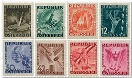 WW2 ANTIFASCIST EXHIBITION EXPOSITION ANTI FASCISTE ANTI FASCHISTEN AUSSTELLUNG NAZI AUSTRIA 1946  MNH MI 776 - 783 - 2. Weltkrieg