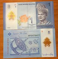 Brand New 1  MYR Ringgit. ,    Photo, Recto Verso - Malaysie