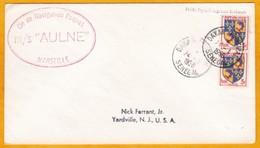 1956 - Enveloppe De Dakar, Sénégal, Frane Vers Yardville, USA - Paquebot MS Aulne - Postmark Collection (Covers)
