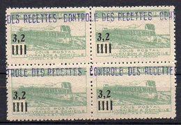 Algérie Colis-Postaux N° 130 Neuf ** En Bloc De 4 - Cote +36€ - Paquetes Postales