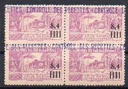Algérie Colis-Postaux N° 138 Neuf ** En Bloc De 4 - Cote +74,80€ - Parcel Post