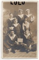 MILITARIA 208 : Carte Photo Marins Militaires 1916 En Tenue A Identifier : - Uniformes