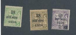 MONACO - N°YT 48/50 NEUFS* AVEC CHARNIERE - COTE YT : 46.90€ - 1921 - Monaco