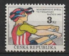 MiNr. 20 Tschechische Republik:  Ruder-Weltmeisterschaften, Ra∑ice (Ratschitz). W) Skullerin - Czech Republic