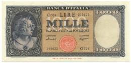 1000 LIRE ITALIA ORNATA DI PERLE MEDUSA 15/09/1959 SPL- - [ 2] 1946-… : Repubblica
