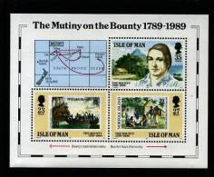 ISLE OF MAN - 1989  THE MUTINY ON THE BOUNTY   MS  MINT NH - Isola Di Man