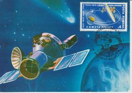 Carte Maximum Roumanie 1986 Comète De Halley PA 300 - Tarjetas – Máximo