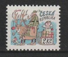 MiNr. 28 Tschechische Republik: Weihnachten. Ae) Weihnachtsschlitten Mit Geschenken, Jäger - Tschechische Republik