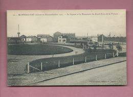 CPA-  Montescourt  -  (Aisne)  En Reconstitution 1921 - Le Square Et Le Monument Du Rond Point De La Victoire - France