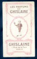 Carte Parfumée Les Parfums De Ghislaine 1 Rue De La Paix Paris -- Maison Chevalier Boulevard Du Montparnasse   SEPT18-13 - Perfume Cards