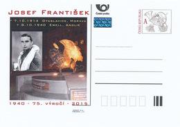 Rep. Ceca / Cart. Postali (Pre2015/35) Sergente Josef František DFM (1914-1940) Pilota Ceco Da Combattimento; WWII - Professioni