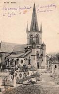 02 Sissonne - Kirche - L'église Et Le Cimetière Pendant L'occupation - Non Circulée - Sissonne