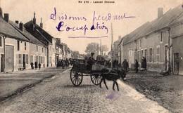 02 Sissonne - Laoner Strasse - Rue De Laon Pendant L'occupation - Attelage âne - Non Circulée - Sissonne