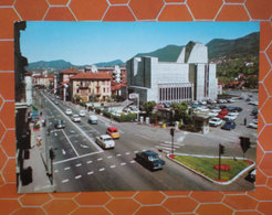 PONTE CHIASSO Confine Distributore Benzina Total ANIMATA AUTO CARS CARTOLINA 1968 - Italy