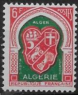 1958  Algérie N° 353  Nf *  MLH . - Algérie (1924-1962)