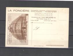 1920 CARTOLINA PUBBLICITARIA LA FONCERIE INCENDIE MILANO - Pubblicitari
