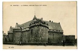CPA 44 Loire Atlantique Nantes Le Château Côté Des Tours - Nantes