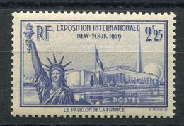 RC 10105 FRANCE N° 426 - 2f25 EXPOSITION DE NEW YORK COTE 20€ NEUF ** TB MNH - Unused Stamps