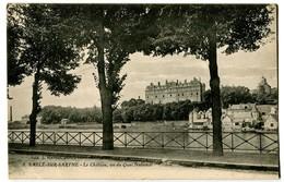 CPA 72 Sarthe Sablé-sur-Sarthe Le Château Vu Du Quai National - Sable Sur Sarthe