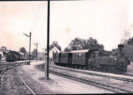 Österreichische Bundesbahnen, Völkermarkt-Kühnsdorf Bahnhof, Train à Vapeur, Photo 1964, BVA ÖBB 514.1 - Treni