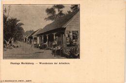 CPA Plantage Marienburg, Woonhuizen Der Arbeiders SURINAME (750384) - Surinam