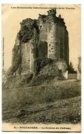 CPA 85 Vendée Pouzauges Le Donjon Du Château - Pouzauges