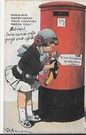 18-154 CPA Valentine's Série, Good-bye Sweetheart Your Conttry Needs You !, Voyagée En 1920, Petits Défauts Sur Les Bord - Phantasie