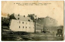 CPA 08 Ardennes Sedan Le Château Et La Citadelle Animé - Sedan
