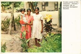 CPM Vrolijke Meisjes Uit Het Kinderhuis Alkmaar SURINAME (750478) - Surinam