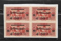 Colonies Grand Liban De 1927  N°91 Bloc De 4 Neufs ** - Grand Liban (1924-1945)