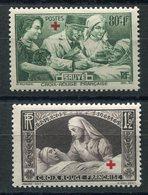 RC 10109 FRANCE N° 459 / 460 AU PROFIT DES BLESSÉS CROIX ROUGE COTE 28€ NEUF ** TB MNH - Unused Stamps