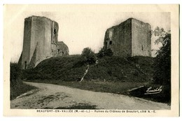CPA 49 Maine Et Loire Beaufort-en-Vallée Ruines Du Château De Beaufort - France