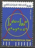 Belgium - 2000 World Mathematics Year MNH **    Sc 1794 - Unused Stamps