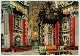 CITTA'  DEL  VATICANO   BASILICA  DI S. PIETRO  ALTARE   PAPALE         (VIAGGIATA) - Vatican
