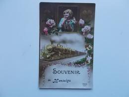Souvenir De MONTAIGU,  Meisje, Bloemen En Trein  REX4874 - Scherpenheuvel-Zichem