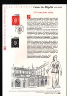 2016, DOCUMENT OFFICIEL DE LA POSTE: Caisse Des Depots 181662016 - Documents De La Poste