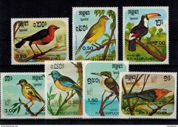 MDB-17072017-0007 MINT ¤ KAMPUCHEA 1985 7w In Serie ¤ OISEAUX - BIRDS - VOGELS - Zangvogels