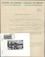Conseil De L'Europe Direction De L'information Sortie Du Timbre 30 F Strasbourg C De L'E Filigrane Robertsau Timbre Obl - Postmark Collection (Covers)