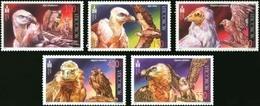 MDB-BK5-292 MINT ¤ MONGOLIA  2002 5w In Serie ¤ OISEAUX - BIRDS - PAJAROS - VOGELS - VÖGEL - - Eagles & Birds Of Prey