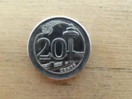 Singapour  20  Cents  2013  Km  !!! - Singapour