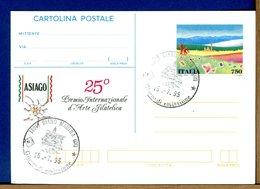 ITALIA - Cartolina Postale - Lire 750  PREMIO ARTE FILATELICA ASIAGO 1995 - 6. 1946-.. Repubblica