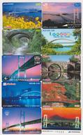 LOT De 10 Cartes Jaopn - PONT - BRIDGE Japan Prepaid Cards - BRÜCKE Karten - 210 - Paysages